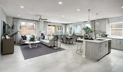 Richmond American's Agate model, showcased at Seasons at River Oaks in Plumas Lake, boasts an airy open layout and a covered patio.