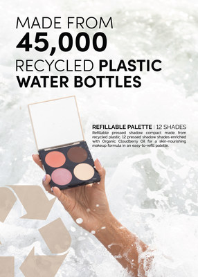 Fitglow Beauty launches new Refillable Palette and 12 multi-use pressed shades infused with Cloudberry Seed Oil and Squalane.