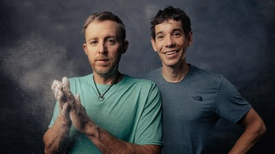 Tommy Caldwell and Alex Honnold for MasterClass