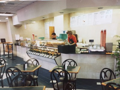 Inside Saladworks in 1987